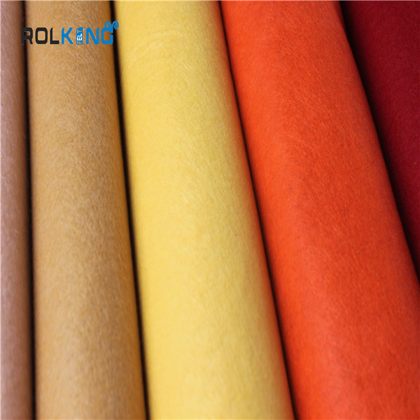 colored needle felt fabirc, China supplier 100% polyester felt