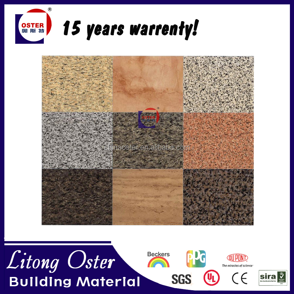 2016 hot sale stone texture wall cladding acm/ aluminum plastic sheet/composite board