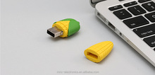 Using shakeproof dustproof heat resistant design corn shape usb flash pen drive optional capacity memory stick
