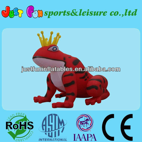 inflatable frog cartoon