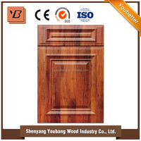 PVC thermofoil faced MDF simple cheap display kitchen cabinets for sale