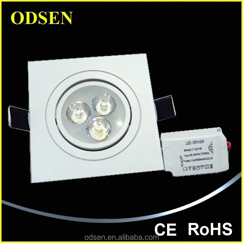 AC220V super quality SMD3030 chip 3 *1W led ceiling inserts light cool white