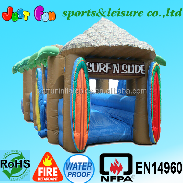 inflatable slip and slide,inflatable water slip and slide for adults,tropical wet slide