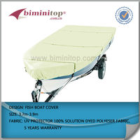 300D solution dyed polyester sightseeing boat covers