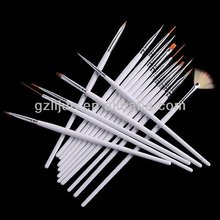 16pcs/ set nail art brush ,16pcs White /pink Nail Painting Brush Set