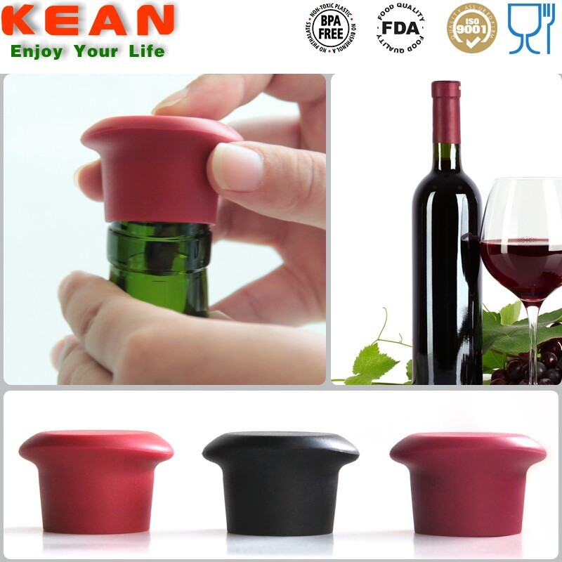 China Manufacturer Leak-proof Silicone Decoration Wine Bottle Stopper