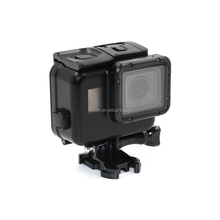 TELESIN Cool Black Waterproof Case 45M Underwater Housing + Bac pac Touched LCD Screen Backdoor Cover for Go Pro Hero5