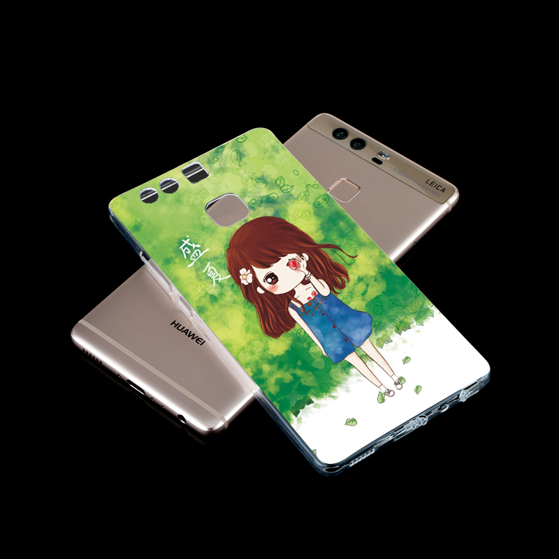 Free sample cartoon 3D phone case factory supply flip case for hauwei p9 plus support any design logo