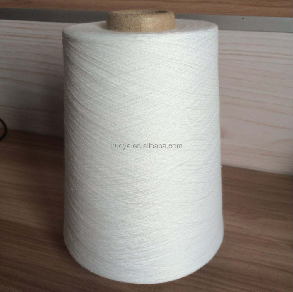 Semi-virgin dope dyed/color spun polyester yarn - RECYCLED Ring POLYESTER SPUN YARN FOR KNITTING