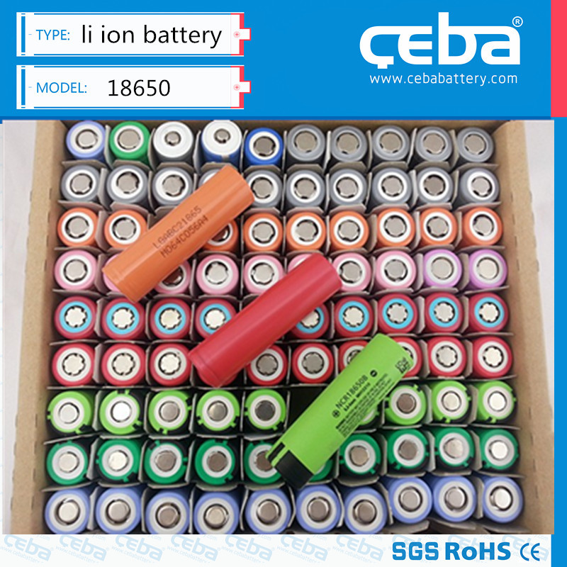 Authentic lithium ion 18650 battery 3.7v 2000/2200/2600/2800/3000/3400mah