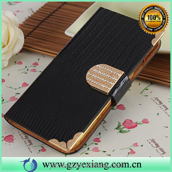 New 2016 mobile phone accessories leather stand case cover for Samsung galaxy s4 wallet flip cover with caer holder