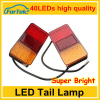 Car led tail lights led truck tail light for universal truck with 40 led tail light