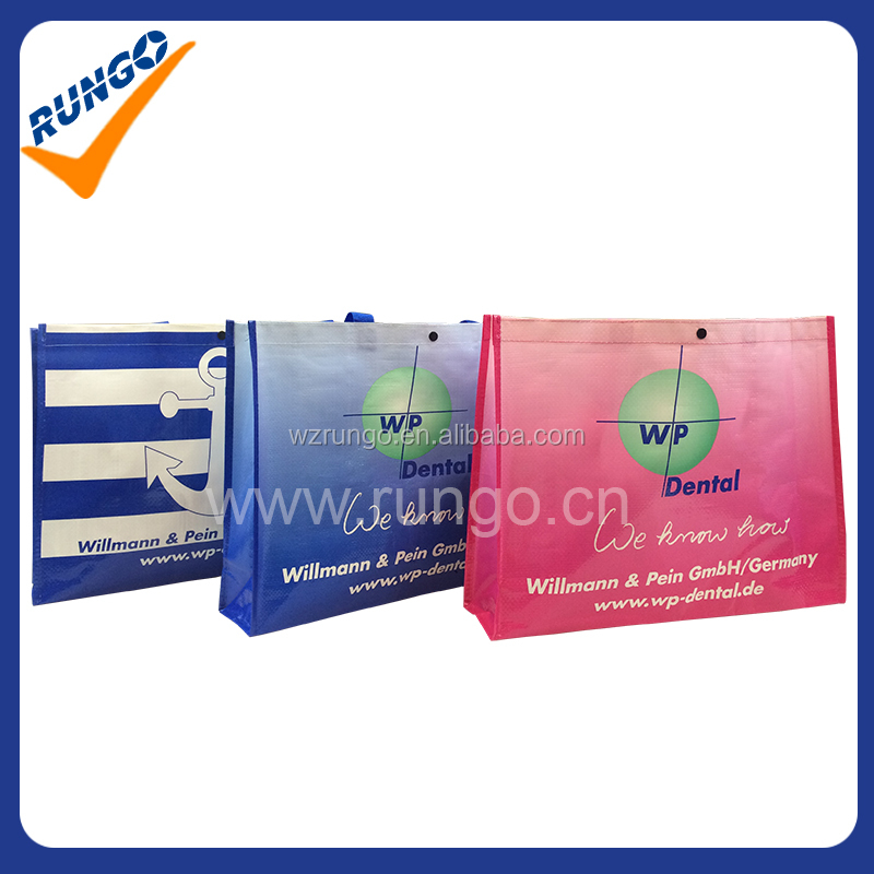 Colorful printing PP Woven shopping bag