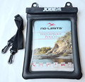 plastic waterproof bag for laptop fashion floating lanyard zipper dry beach pouch for ipad siwmming