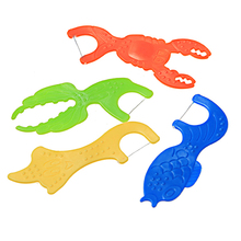 Kids Lobster Shape Dental Floss With Long Handle