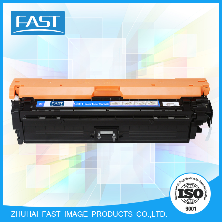 High Quality CE271A Cyan compatible ink cartridge for Color Laser Jet CP5525N 5525DN 5525