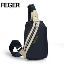 FEGER new fashion men's oxford fabric sling chest pack bag for travel