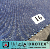 EN11611 EB1149 CVC 80% cotton with 20 % polyester flame retardant with anti-static Jeans safety clothing fabric