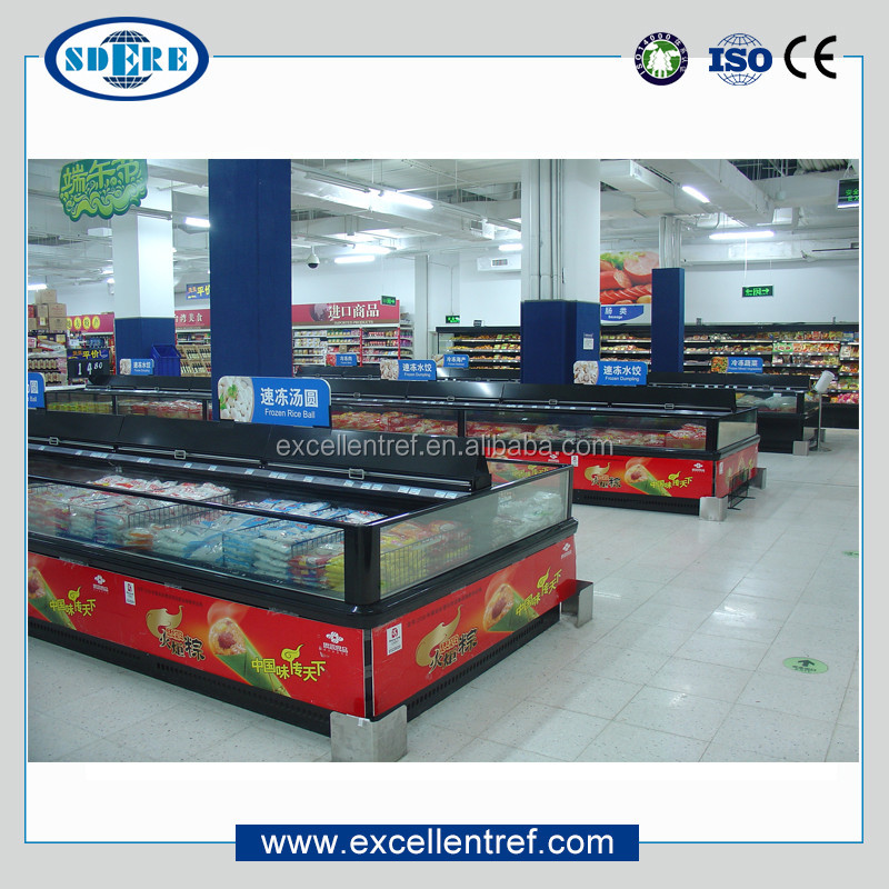 DID2515O1 for supermarket seafood and fish deep display refrigeration cabinet equipment