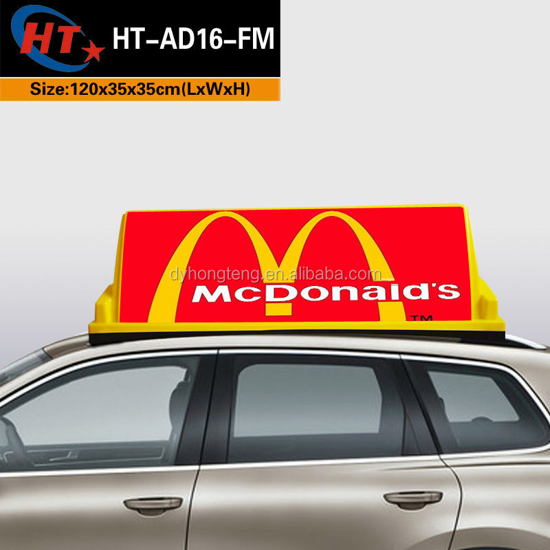 Led taxi car roof top advertising light