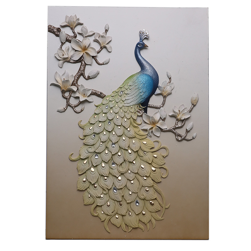Resin Wall Art peacock spirit colorful resin relief wall art painting - buy wall