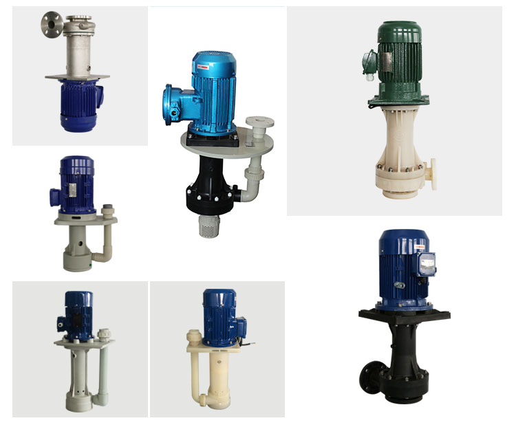 Acid base resist/acid and alkali resistant electric vertical pump centrifugal mixed flow