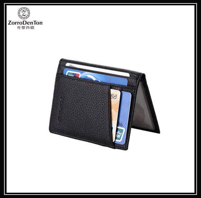 genuine leather driver license card holder with ID window