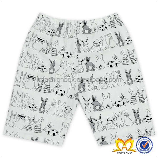 Toddler And Infant Easter Posh Rabbit Printed Children Clothes Wholesale Stylish Boy Shorts