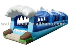 2014 hot sale inflatable double lane slip slide Inflatable slip and slide
