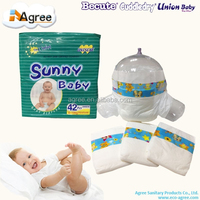 Ultra soft care disposable baby diaper with factory price OEM brand service