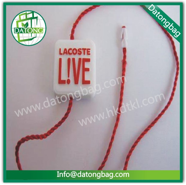 Clothing plastic hang tags/string seal/red tag