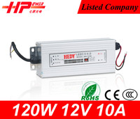 Aluminous shell rainproof series high quality led switching power supply constant voltage 120w 10 amp 12v safety power rail