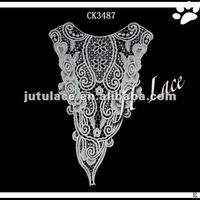 Elegant embroidery cotton lace collars for lady garment(CK3487)