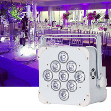 Wedding Backdrop Uplight Battery Powered Wireless DMX Infrared Par Remote Control 9*18W Battery wireless Flat led par up lights