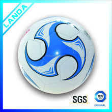 custom print PVC machine sititched football soccer ball for sale