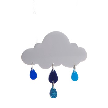 dangle sewing pin cloud rain brooch from yiwu factory