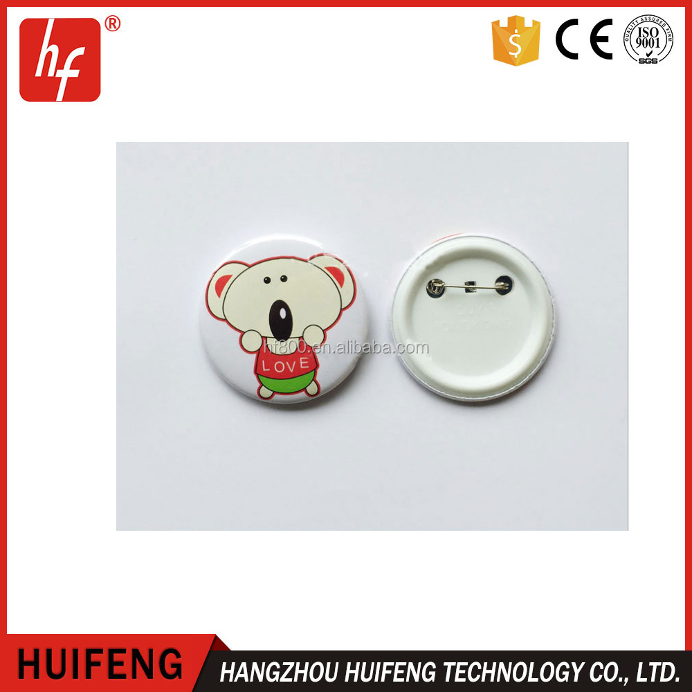 sublimation blank button custom round tinplate metal pin badge