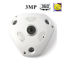 VR01 360 Camera IP 3MP Fish Eye 1080P WIFI PTZ CCTV 300 Pixe 3D VR Video IP Cam Micro SD Card Audio Remote Home Monitoring