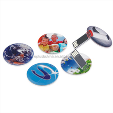bulk cheap Customized round card 1GB to 64GB USB flash drive