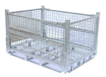 hot-dip galvanizing folding warehouse mesh cage