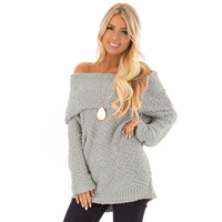 Wholesale Off The Shoulder 2019 womens winter sweater