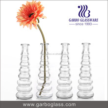 Custom Glass Flower Vase , Spiral Flower Vase Painting Designs