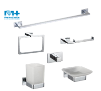 Square Zinc Alloy Chrome Plated Wall