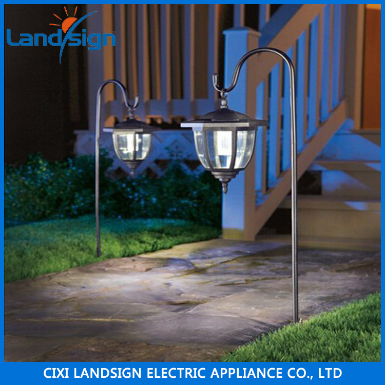 Landsign recommend solar lawn light XLTD-249A with 1*white LED and Plastic + clamp material garden solar light