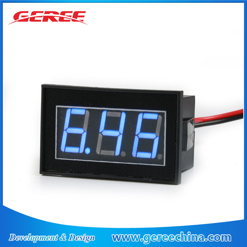 "0.56"" mini Waterproof 3 phase Digital volt meter voltmeter DC12V 24V for Car Motor Motorcycle"