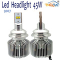 Super White 9007 4500lm Low High Beam Easy Install 12V 45W Auto Led Headlight Bulb