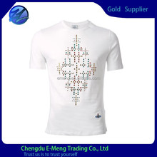 Good quality custom made t shirts with beaded printing