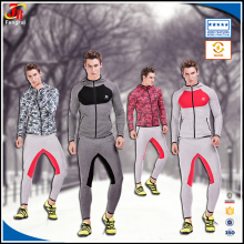 Guangzhou Sportswear Factory Sport Jackets Clothes Zipper Pocket Feeece Pullover Hoodie And Pants for Men