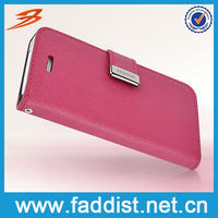 Cute Wallet Leather for iphone 5 Cross Line Case