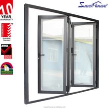 Australia standard bifold shutter door aluminum, pvc or wood windows and doors
